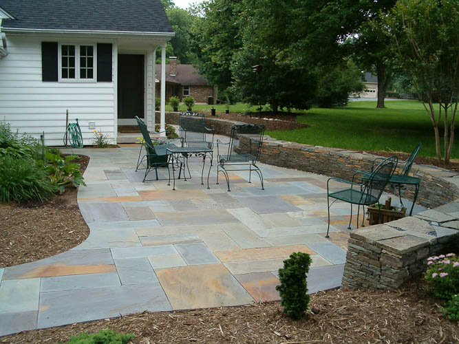 Cut Flagstone Patio On Stone Dust